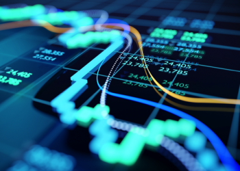 Close Up Image Of A Stock Market Graph