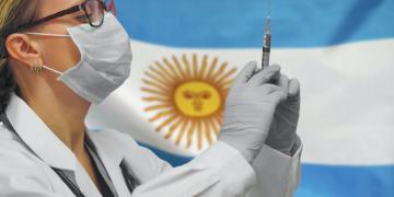 Female doctor. Influenza from coronavirus, prevention of pandemic virus infection. Virus in Argentina.