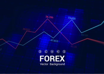 Stock market or forex trading graph and chart for technology fin. Board, information. Vector Illustration