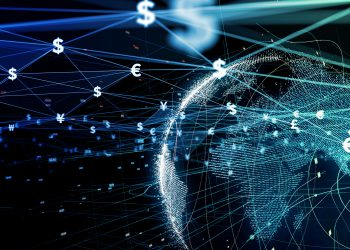 Financial technology concept. Fintech. Online banking. Foreign exchange.