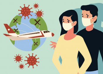 crisis airline and travel tourism business from the outbreak of the disease coronavirus covid 19 vector illustration