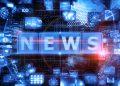 Digital background depicting innovative technologies, Internet technologies Digital News and media